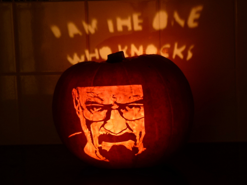 Walter White Halloween Pumpkin 2013