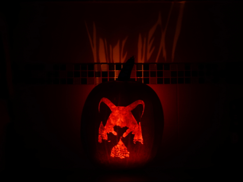 You're Next Fox Mask Halloween Pumpkin