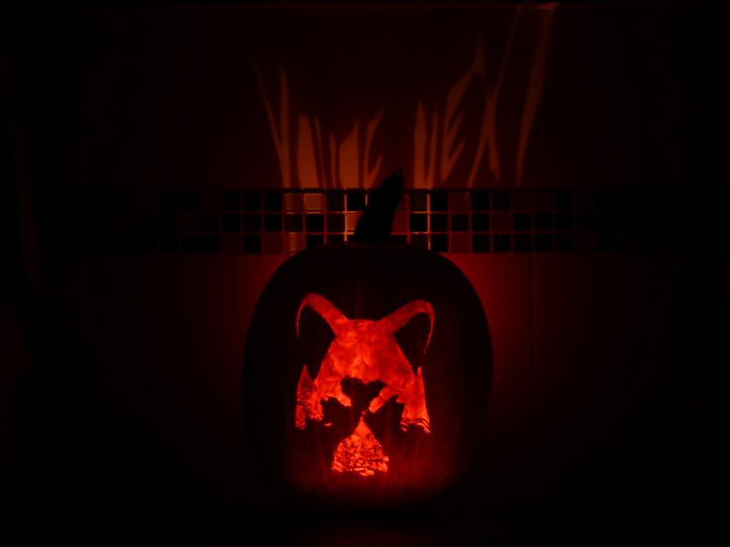 You're Next Fox Mask Halloween Pumpkin